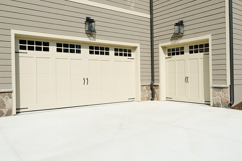 What is the most popular style of residential garage doors?